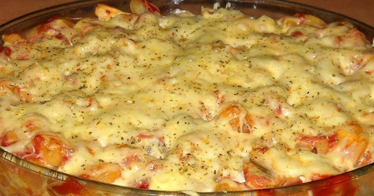 Zapečené pizza těstoviny