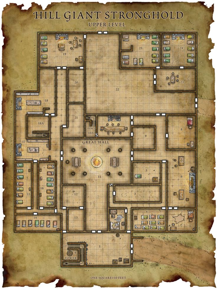 Hill Giant Stronghold Map