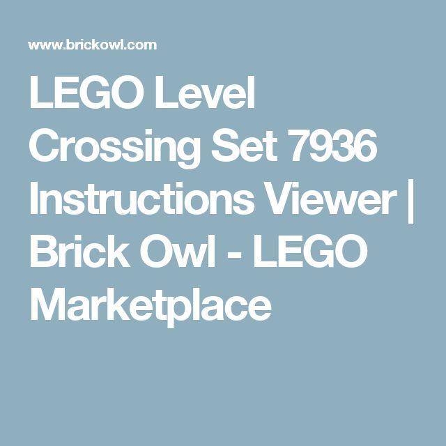 LEGO Level Crossing Set 7936 Instructions Viewer | Brick Owl - LEGO Marketplace
