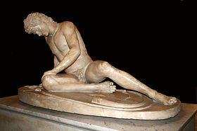 El Gálata moribundo, una copia romana en mármol de una obra helenística del siglo III a C. Museos Capitolinos, Roma.