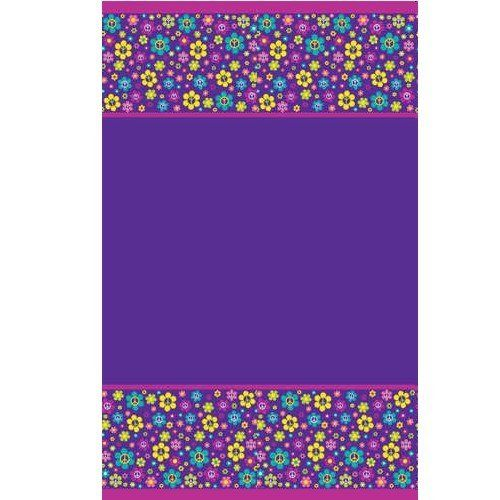 """Creative Converting Groovy Girl Plastic Tablecover, Rectangle, 54"""" x 108"""" by Creative Converting. $3.99. Groovy girl themed plastic table cover. Perfect supplies for a birthday party, a 70's themed party or just for when the cheerleading squad gets together at your house. Rectangle, measures 54"""" x 108"""". See Creative Converting's coordinating line of party goods and dinnerware, paper plates, napkins, cupcake toppers, hanging decorations, banners, invitations, loot bags and mor..."""