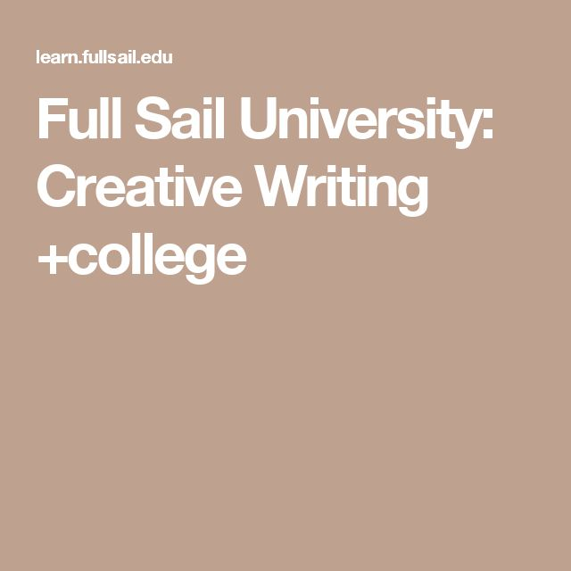 full sail creative writing online Writing for games in education / training, education with full sail university   course directors may be required to teach both on-campus and online  must  have an mfa in creative writing or doctorate in english language and.