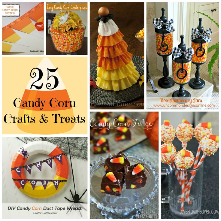 25 Candy Corn Crafts & Treats