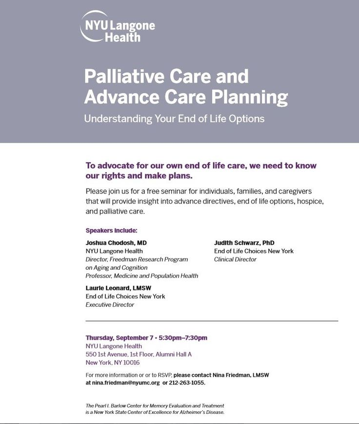 Planning Ahead With NYU Langone Health | Artful Home Care Inc.