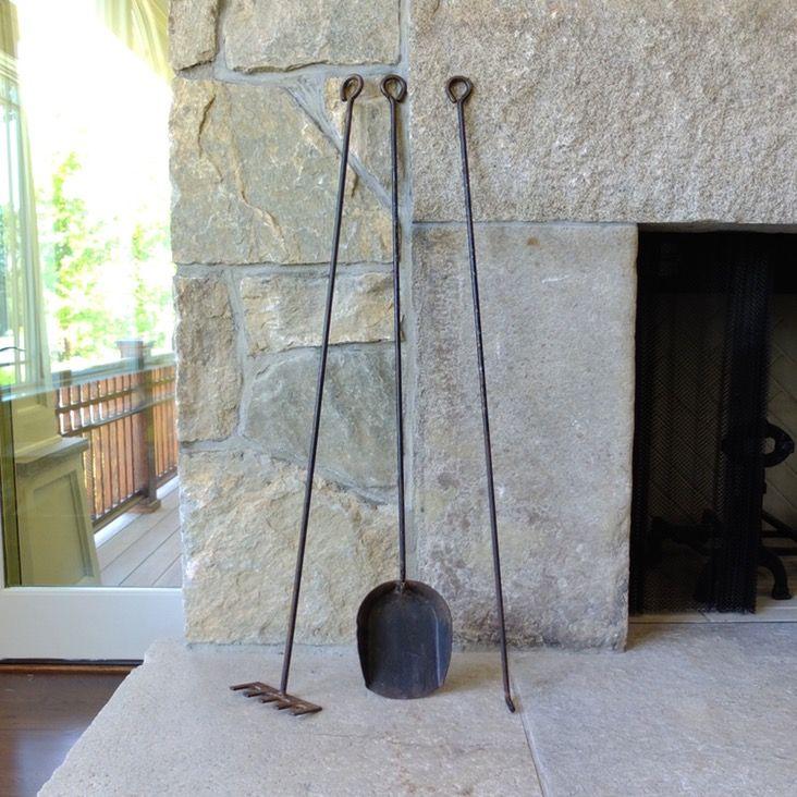 Bilderesultat for modern Fireplace tools brass