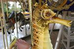 Sea Horse on the carousel at the Happy Hollow Park and Zoo, San Jose, CA