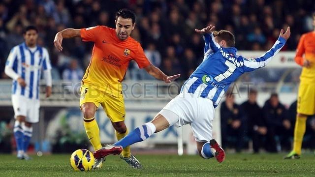 Xavi, FC Barcelona | Real Sociedad 3-2 FC Barcelona. [2013-01-19]