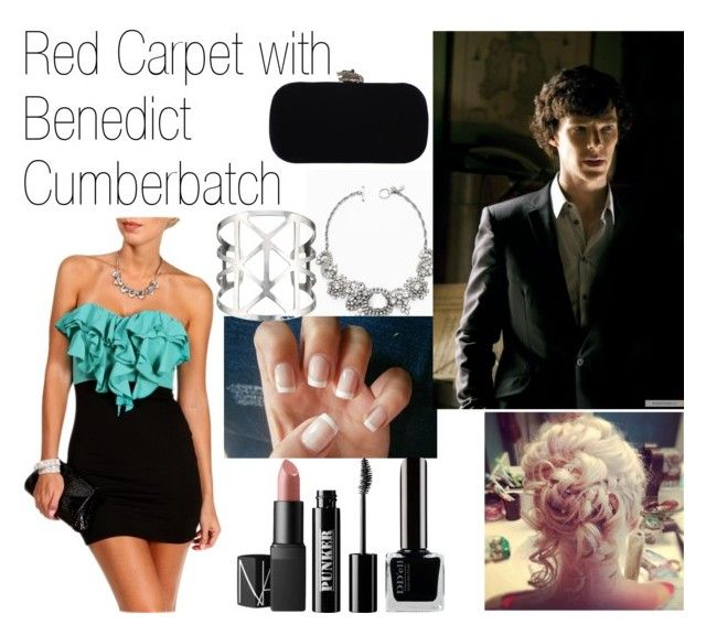 """Red Carpet with Benedict Cumberbatch"" by alpacaamazing ❤ liked on Polyvore featuring Ann Taylor, House of Harlow 1960, Accessorize, Ardency Inn, NARS Cosmetics, RedCarpet, benedictcumberbatch and Actor"