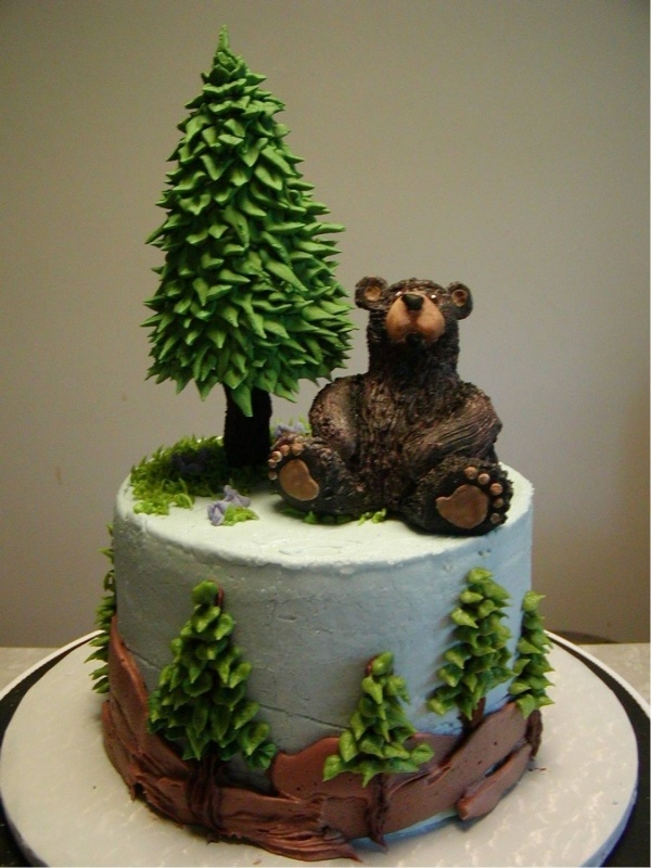 Bear Cake. So cute... makes me think of my Mom