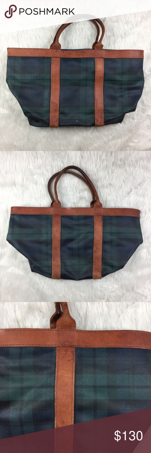 """RARE Vintage POLO RALPH LAUREN Travel Tote BAG Condition- Has some signs of wear on leather and interior. See pictures.     Measurements:  Height- 13""""  Length- 20""""  Depth- 7.5""""  Strap drop- 8"""" Polo by Ralph Lauren Bags Totes"""