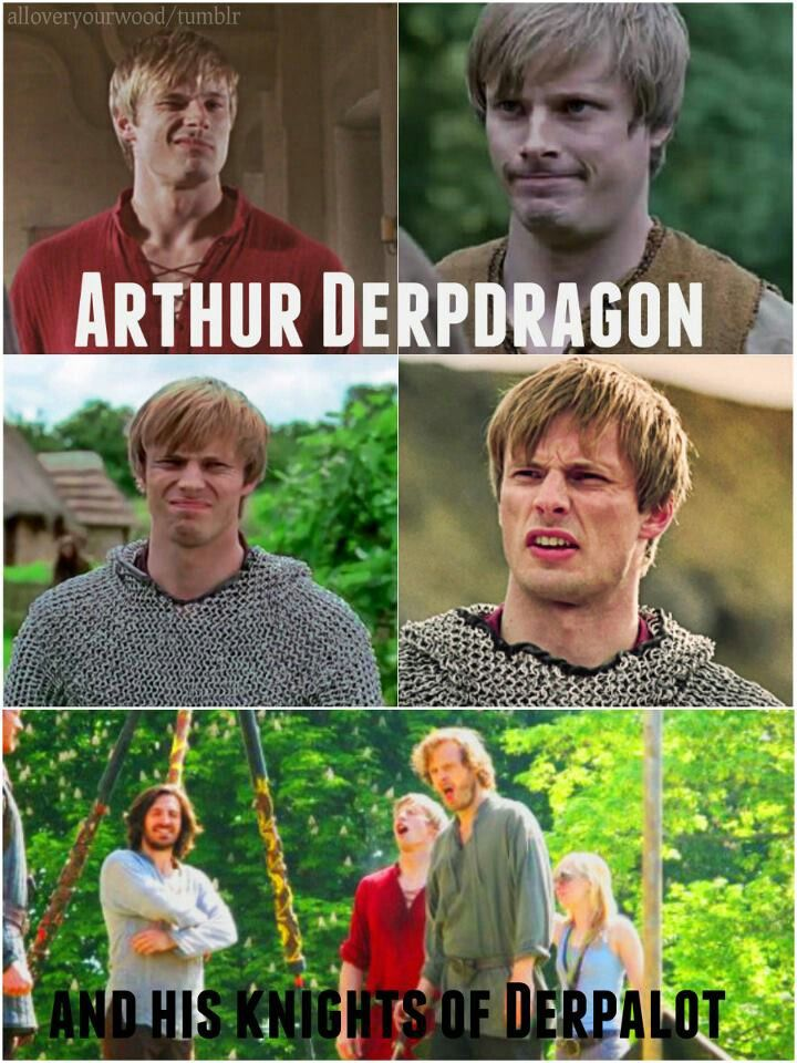 The knights of the Derp Table.  Ha what's great is that usually the derp faces are accidental in between faces you have to be lucky to catch.... All of Arthur's there are totally on purpose.
