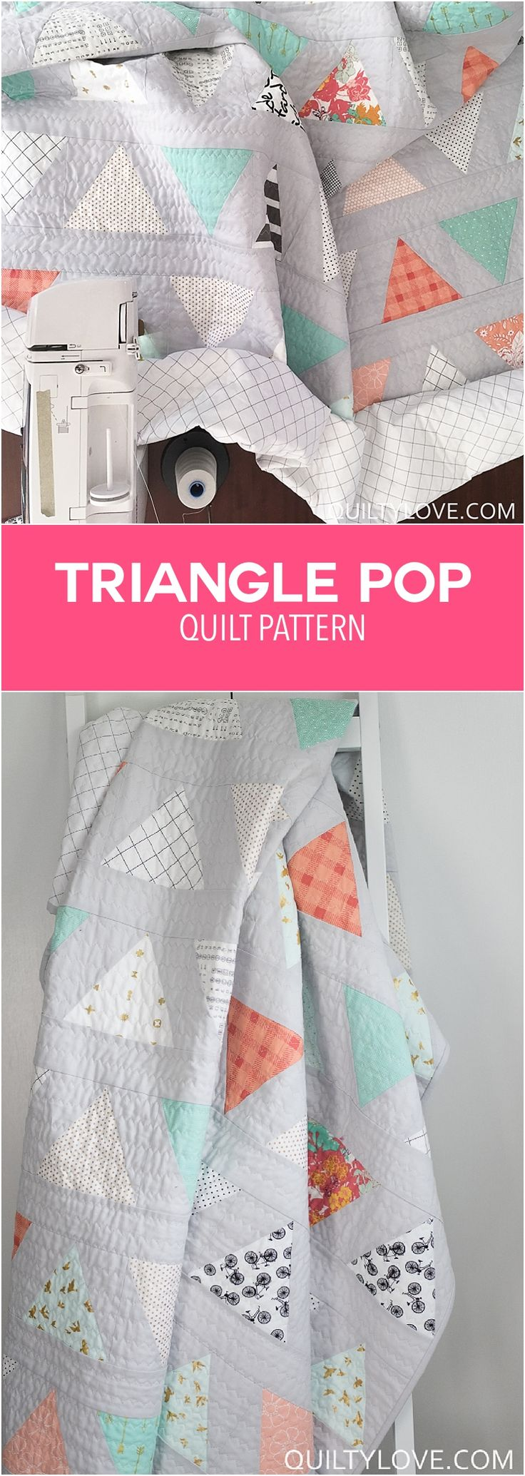 84 best Triangle quilts images on Pinterest | Triangle quilts ...