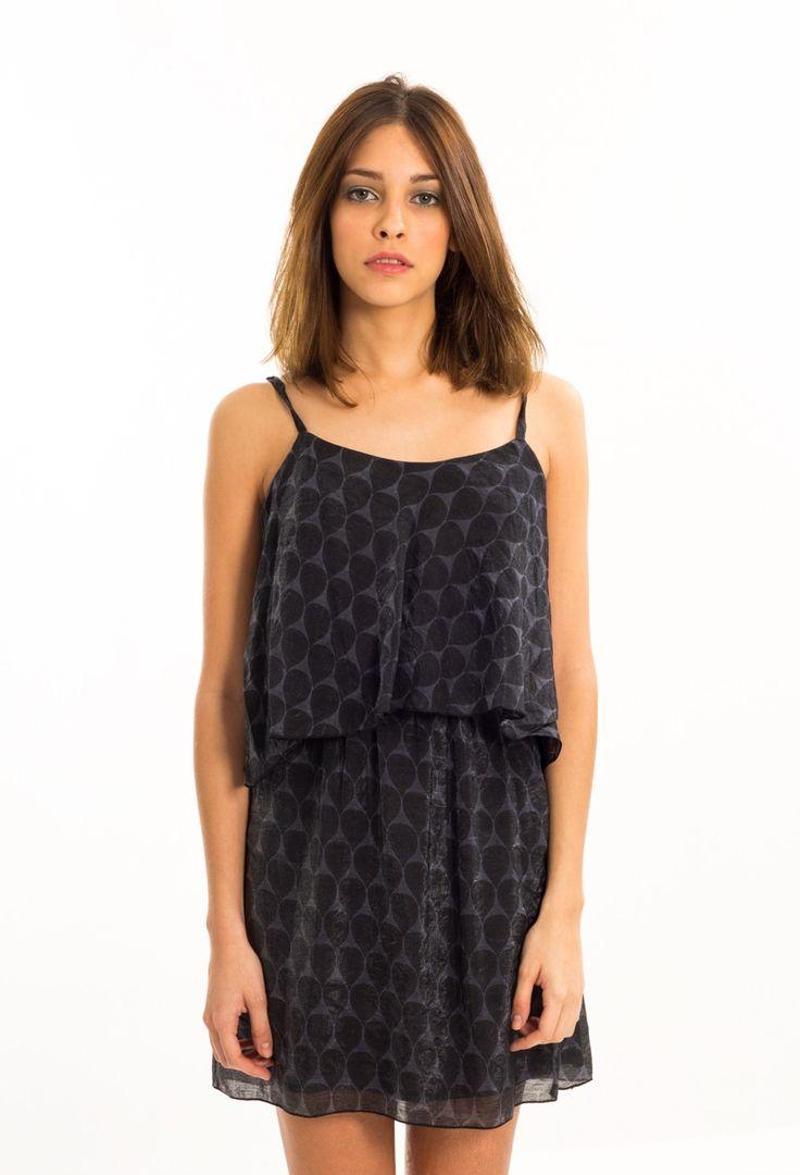 Estancias Chiripa - Vestido Gasa Cam negro $348