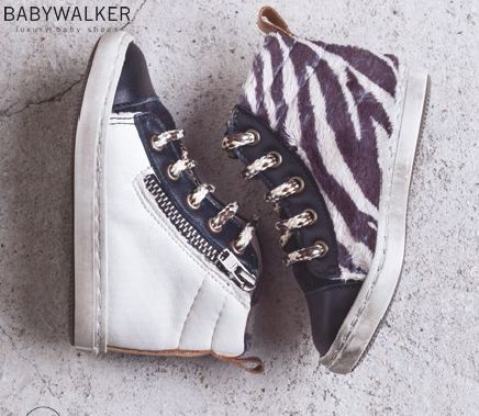 Unisex Zebra zip booties by BABYWALKER FW2015/16
