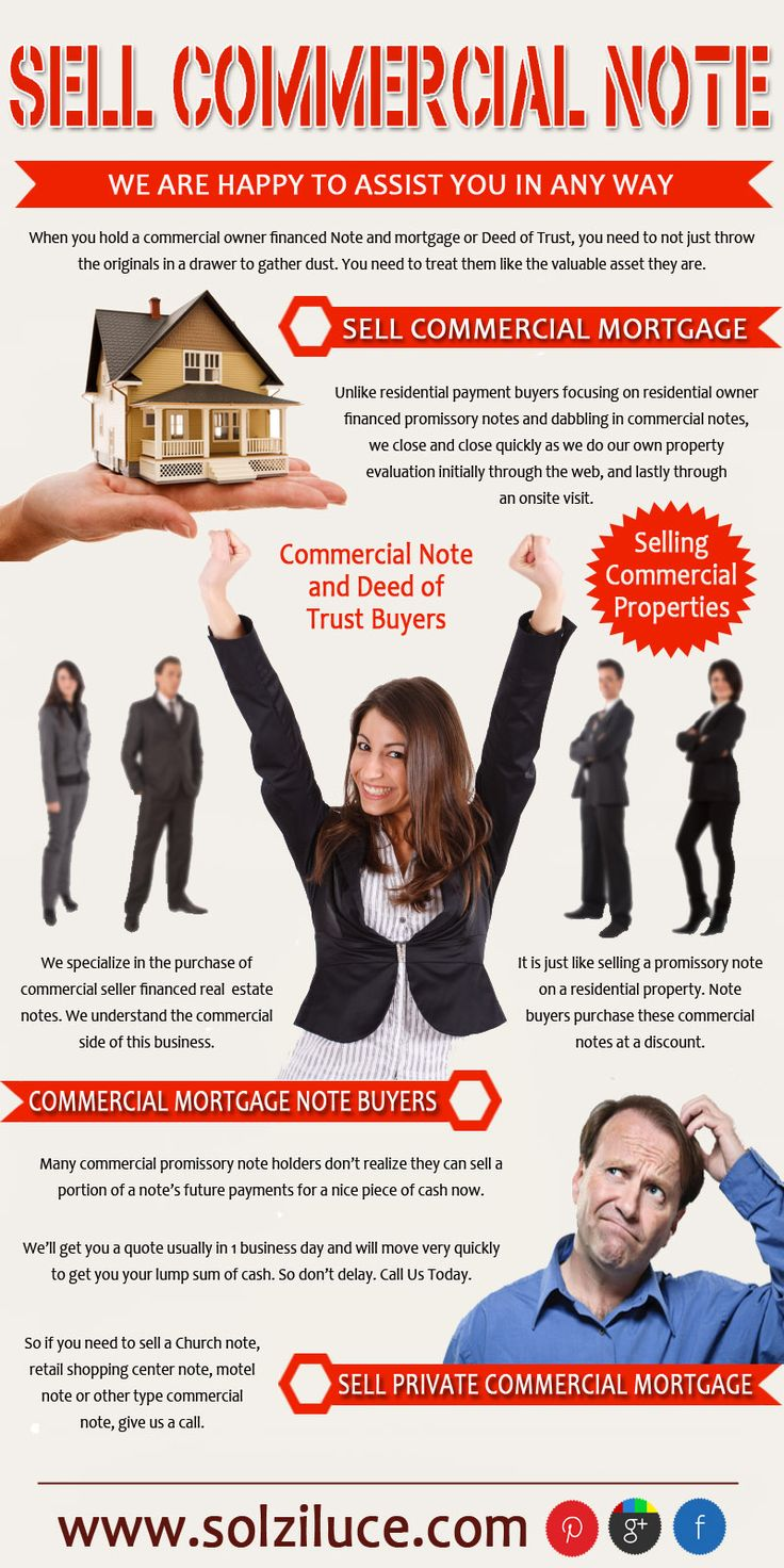 Try this site http://solziluce.com/selling-a-commercial-mortgage-note-faqs/ for more information on Sell Commercial Note. Holders of commercial notes should learn more about these to determine whether now a good time to sell them is. The process is not difficult and it provides immediate financial benefits. Therefore it is important that you choose the best and the most reliable buyer when opting to sell commercial note. Follow Us: http://imgfave.com/NoteSelling