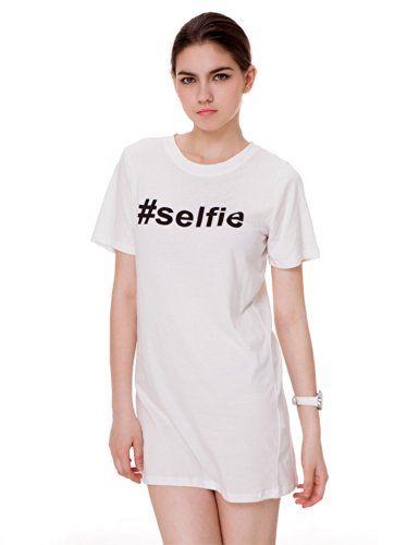 Zlyc Women's Hashtag #Selfie Novelty Print Slim Fit Longline Top (White) ZLYC http://www.amazon.com/dp/B00KOIKJ54/ref=cm_sw_r_pi_dp_TNoPtb1MTT3Z5M2M