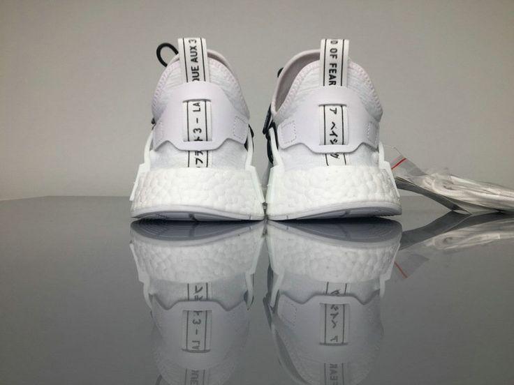 Chaussures De Course 2017 Fear of God x Adidas NMD Human Race Boost UNISEX White/blanc noir/Black
