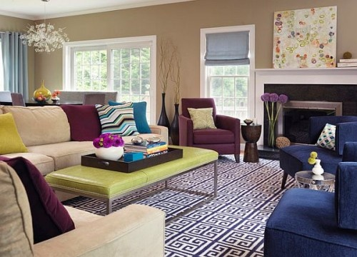 Purple Interior Decorating Collection Living Room Accents