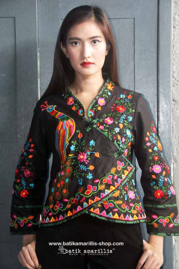 Batik Amarillis Made in Indonesia proudly presents  Batik Amarillis's Joyluck jacket in lovely Mexican iembroidery  It's beautiful ethnic inspired pieces to bring you joy & luck...