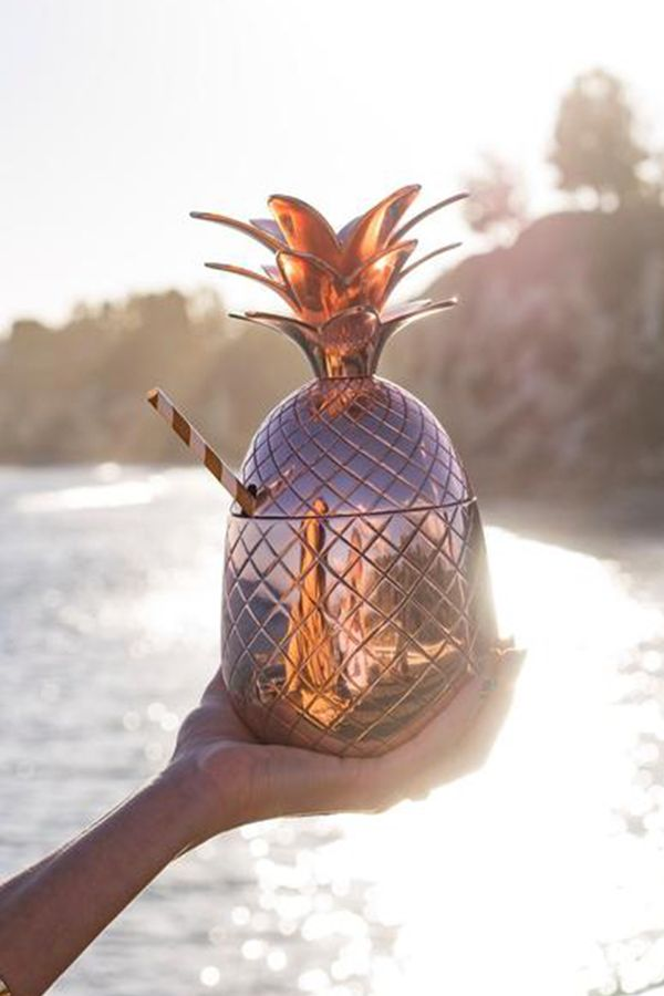 The Original Elyx Copper Pineapple of Hospitality – this copper cup is best served with an Absolut Elyx cocktail. For every Copper Pineapple Gift Set sold Absolut Elyx will also provide access to one month of safe water (560 liters) to someone in need thanks to the partnership with Water for People.   To buy your own Elyx Copper Pineapple, learn more about the partnership with Water for People and get great cocktail recipes for your copper pineapple, click here.