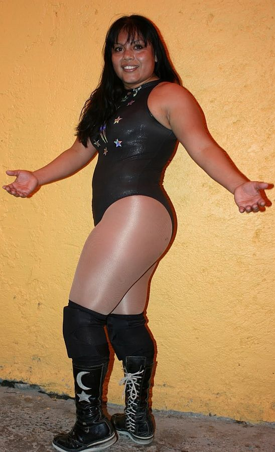 Woman wrestling spandex