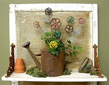 what a great idea for the collection of facet  handles i have in my potting shed