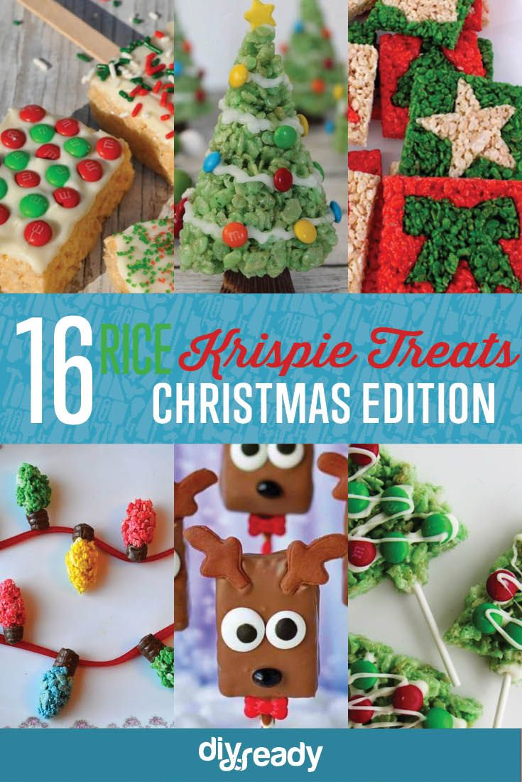 Best Christmas Rice Krispie Treat Recipes | Rice Krispie Treat Ideas, see more at: http://diyready.com/best-christmas-rice-krispie-treat-recipes-rice-krispie-treat-ideas/