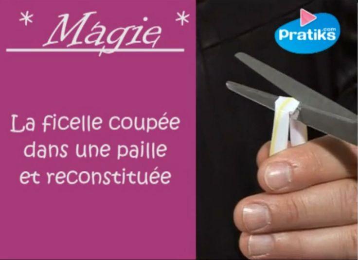 Apprenez le célèbre tour de magie de la ficelle coupée dans une paille et reconstituée. Étonnez vos amis en les faisant couper une ficelle puis en la reconstituant !
