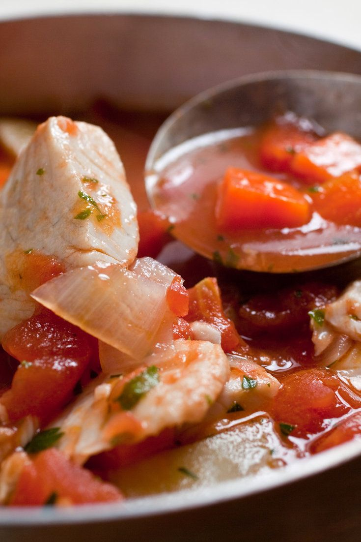 This is a typical fisherman's stew No need to make a fish stock; water, aromatics and anchovies will suffice Use anchovies even if you don't like them, as they add great depth of flavor, not to mention omega-3 fats