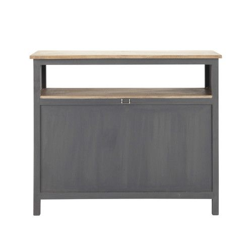Barmöbel aus holz b 120 cm grau
