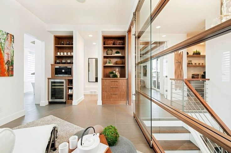 Home Design, Amazing And Fascinating Interior House Decor Idea With Edgy Elegant Furnishing And Sophisticated Glass Sliding Door: Amazing and Adorable Stampade Rotary Home Design Ideas