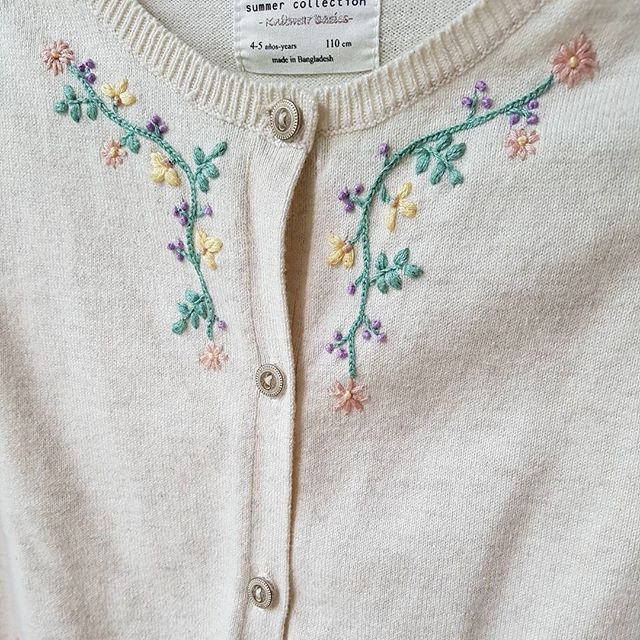 Sweater embroidery idea