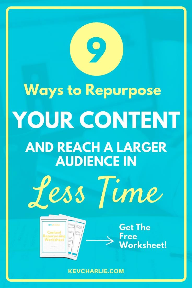 We all want to reach more people, right? There's a simple way of doing it by repurposing our blog content, create the content once and share it a lot of times! Download the Content Repurposing Worksheet and start growing your blog. Kevin Charlie, Entrepreneur. #blogginglikeaboss #bloggingtips #businessowner #entrepreneur