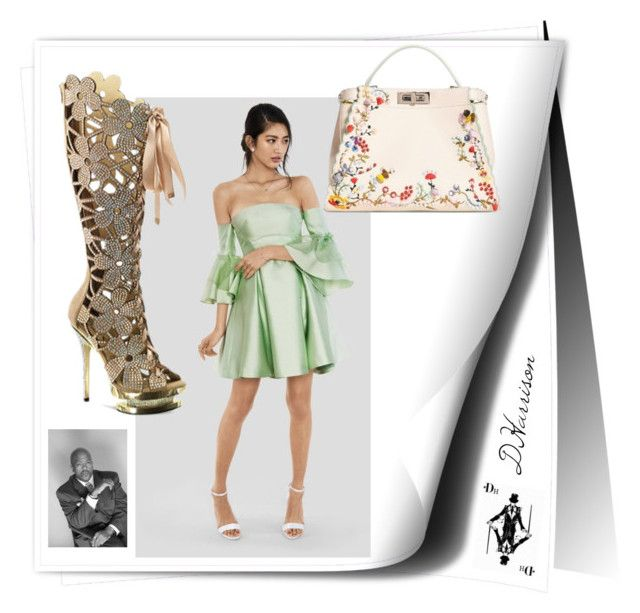 """""""Anna"""" created on Polyvore app. by DHarrison Designs. Featuring Fendi, Lanyu and Fantasia 2020"""