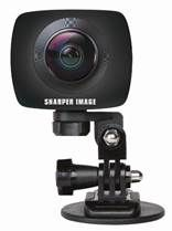 Sharper Image Wi-Fi 960P Dual Leans 360 Digital VR Camera Designed for smartphones, the dual spherical lenses capture horizontal and vertical angles for immersive 360 videos.   MSRP: $249.99 | Available at TJX Companies