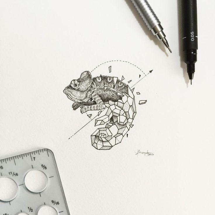 Geometric Beasts   Chameleon