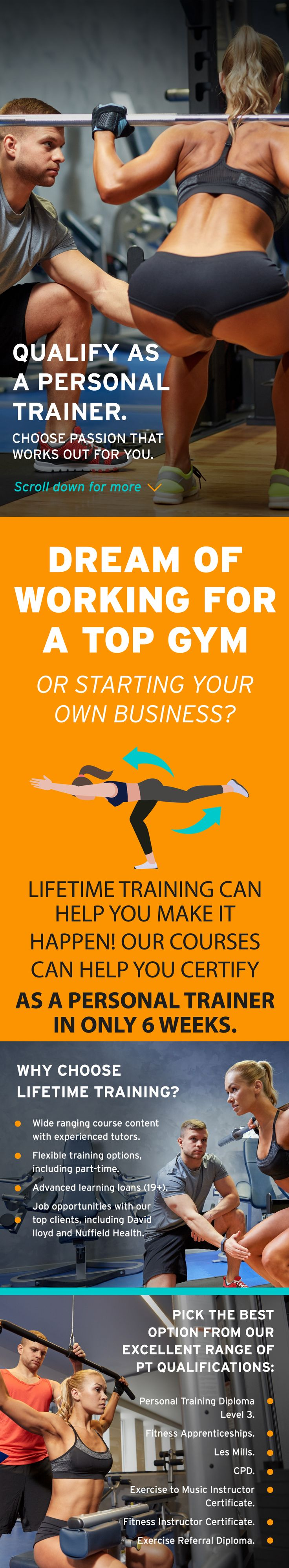 Best 25 personal training courses ideas on pinterest personal want a career that works out for you you could be earning up to 40k in just 6 weeks personal training courses put you in pole position to kick start your xflitez Image collections