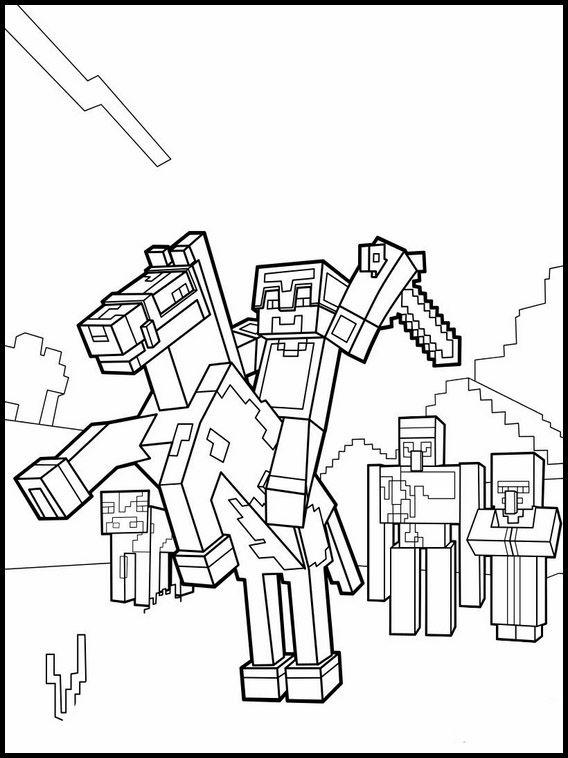 Disegni Minecraft Da Colorare 10 Libri Da Colorare Disegni Da Colorare Minecraft