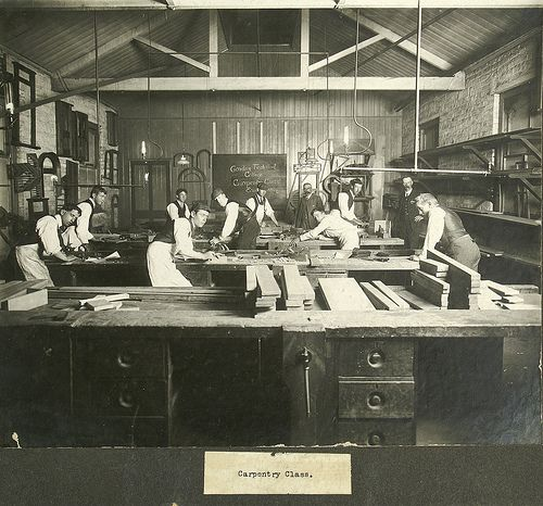 Tradie Carpentry Class 1900s.Vintage artisan furniture making. #tafe #education #geelong #learning
