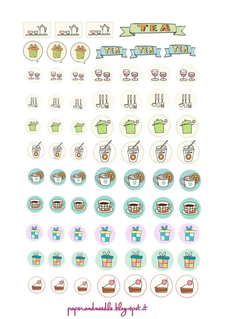 Paper and Needle: Free Printable Stickers for planner #2