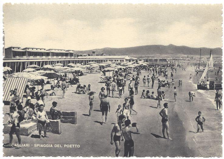 CAGLIARI - Spiaggia del Poetto (anni '40-'50)