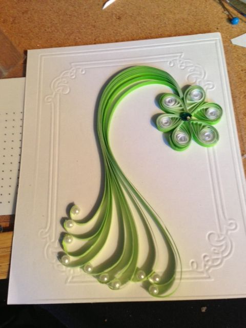 New Ideas For Making Greeting Cards Part - 24: New Quilling Greeting Card Design