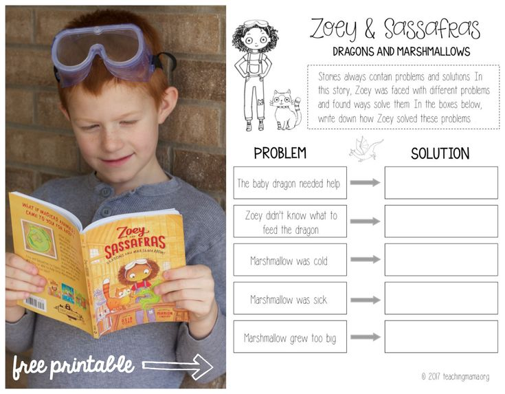 Zoey and Sassafras Dragons and Marshmallows activity