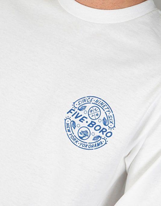 e52812a7a2e6 5Boro Yokohama L S T-Shirt - White Navy Blue