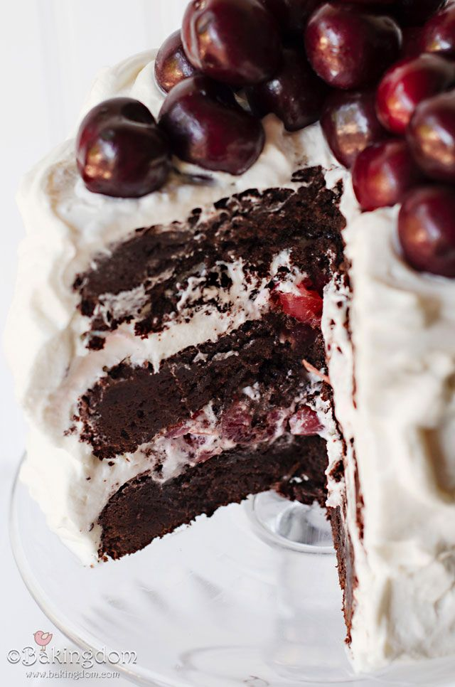Black Forest Brownie Layer Cake