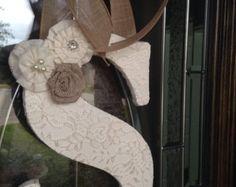 Shabby chic de arpillera decoración  ducha por TinyTotsNurseryDecor