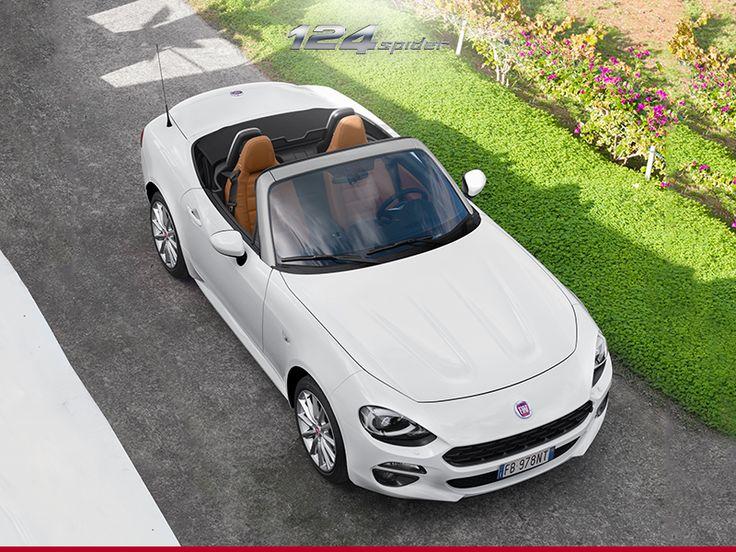 Dzisiejszy niezbędnik: Twój uśmiech, szeroka droga, piękne krajobrazy i #Fiat124Spider.
