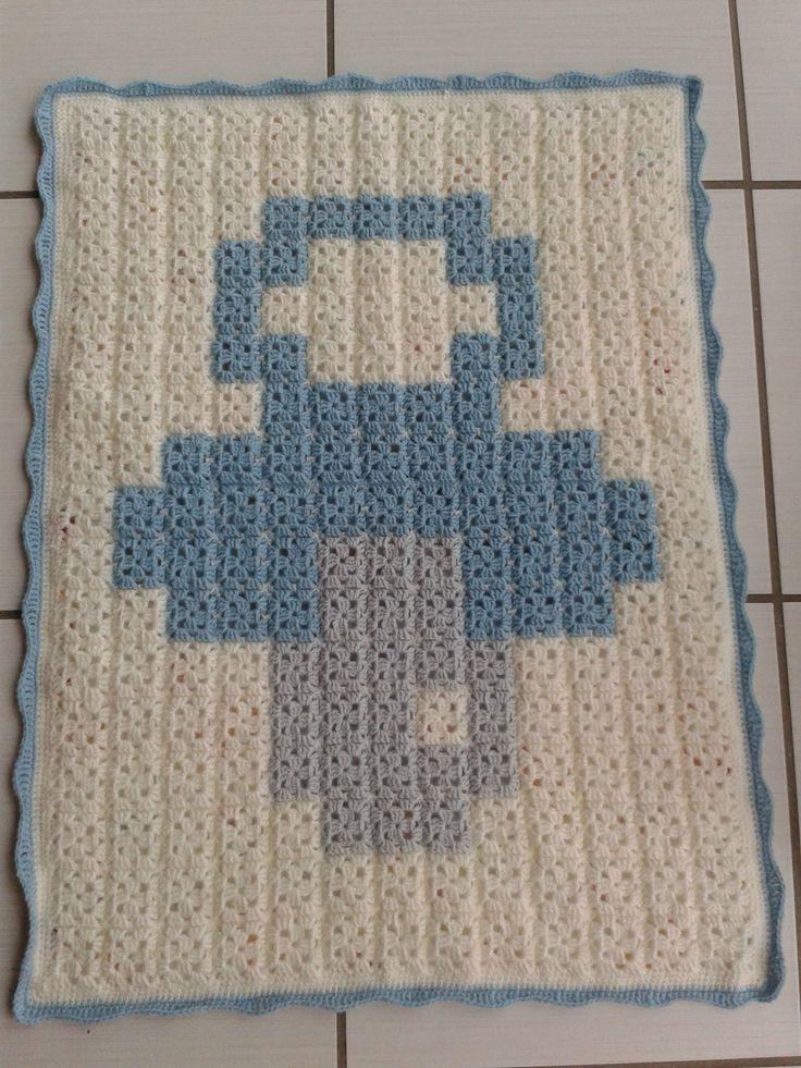 Baby pixel crochet blanket project by lochrimi