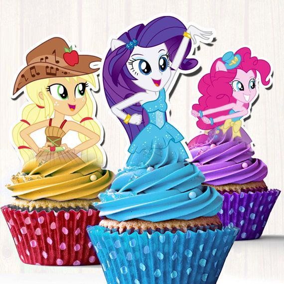 Mis primeros Little Pony Equestria por FancymyCupcakeTopper en Etsy