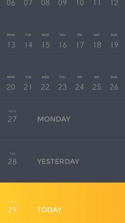 Peek Calendar Screenshots